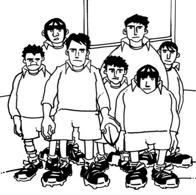 Rugby da colorare 7