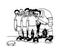 Rugby da colorare 9