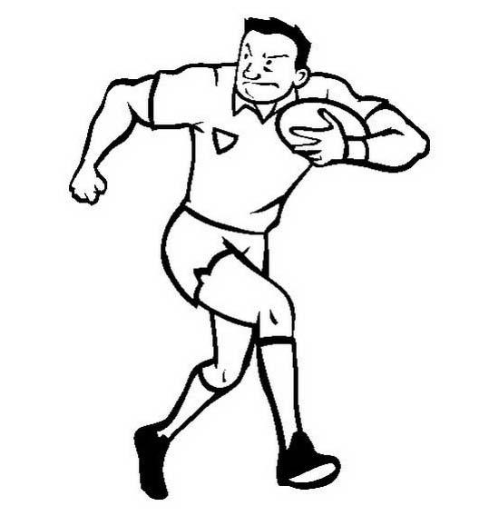 Rugby da colorare 12