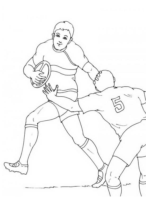 Rugby da colorare 14