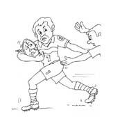 Rugby da colorare 17