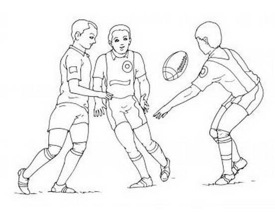 Rugby da colorare 18