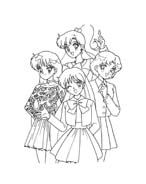 Sailor moon da colorare 16