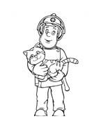 Sam il pompiere da colorare