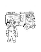 Sam il pompiere da colorare 9