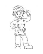 Sam il pompiere da colorare 64