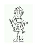 Sam il pompiere da colorare 68