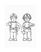 Sam il pompiere da colorare 101