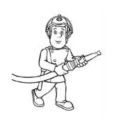 Sam il pompiere da colorare 106