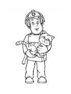 Sam il pompiere da colorare 110