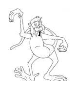 Scimmia da colorare 31