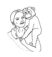 Scimmia da colorare 46