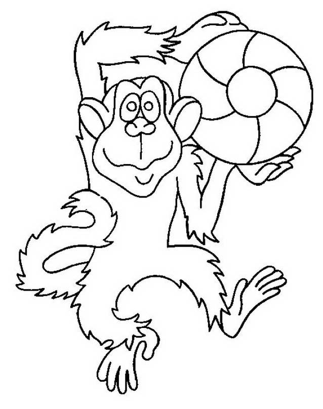 Scimmia da colorare 54