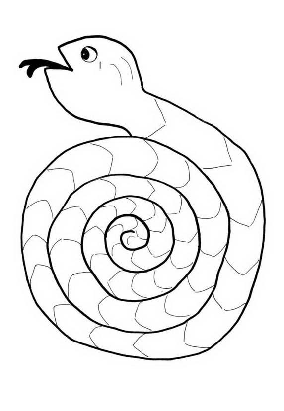 Serpente da colorare 83