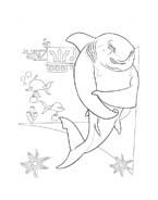 Shark tale da colorare 2