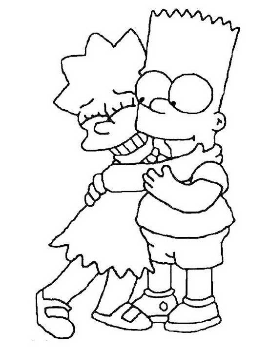 Simpsons da colorare 44