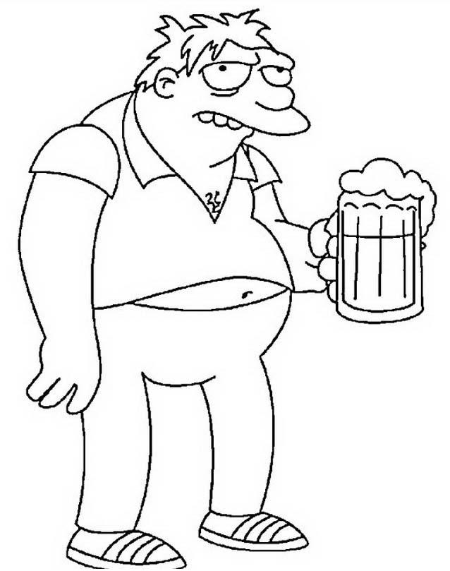 Simpsons da colorare 45