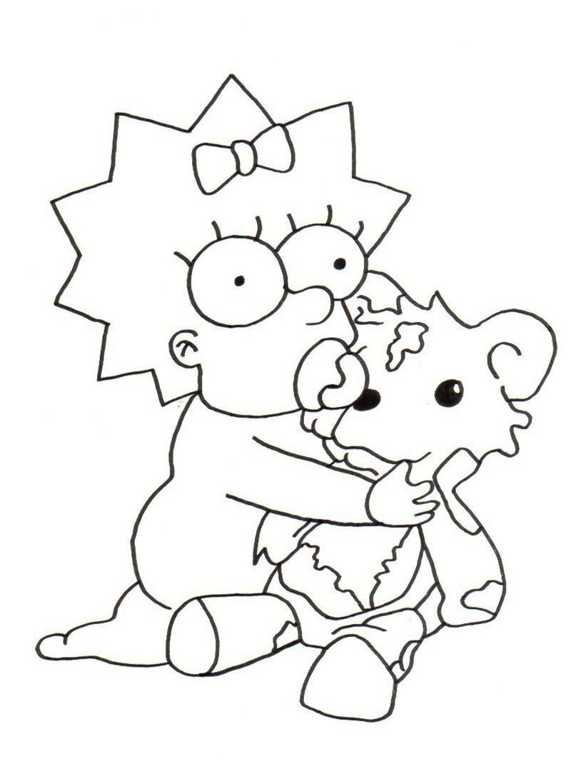 Simpsons da colorare 53