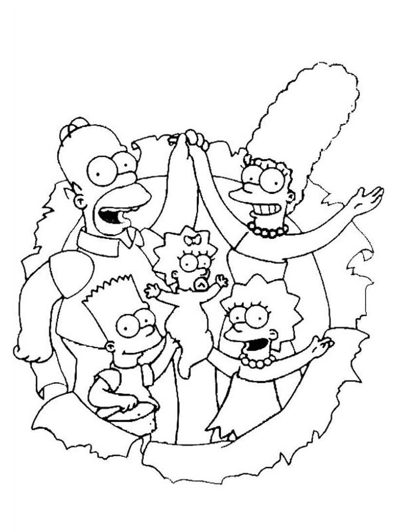 Simpsons da colorare 61