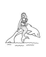 Sirena da colorare 5