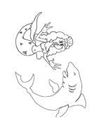 Sirena da colorare 12