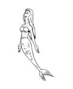 Sirena da colorare 16