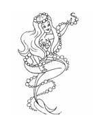 Sirena da colorare 21