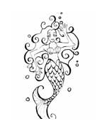 Sirena da colorare 22