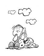 Linus snoopy da colorare 13