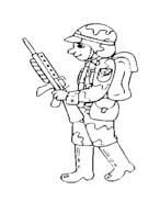 Soldato da colorare 49