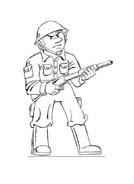 Soldato da colorare 50