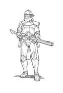 Soldato da colorare 60
