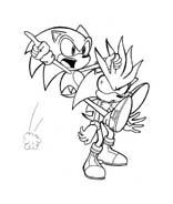 Sonic da colorare 29