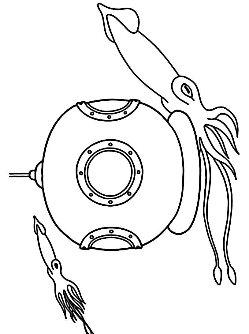 Sottomarino da colorare 14