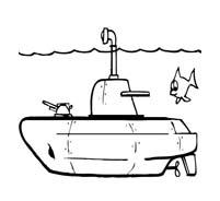 Nave e barca da colorare 136