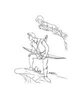 La spada nella roccia da colorare 15