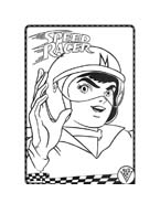 Speed racer da colorare
