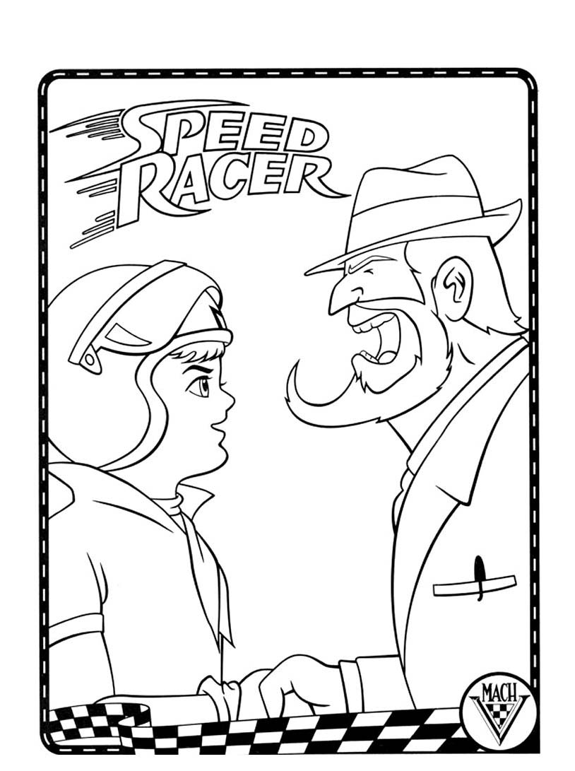 Speed racer da colorare 90