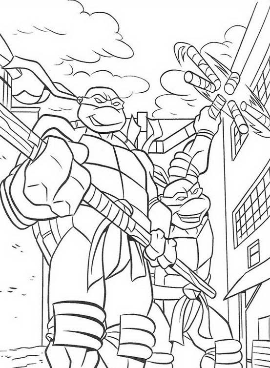 Tartarughe Ninja Donatello Da Colorare