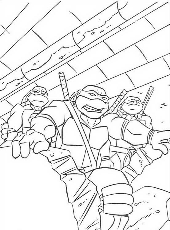 Tartarughe ninja da colorare 25