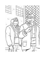 Tartarughe ninja da colorare 28