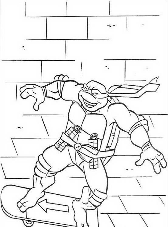 Tartarughe ninja da colorare 43