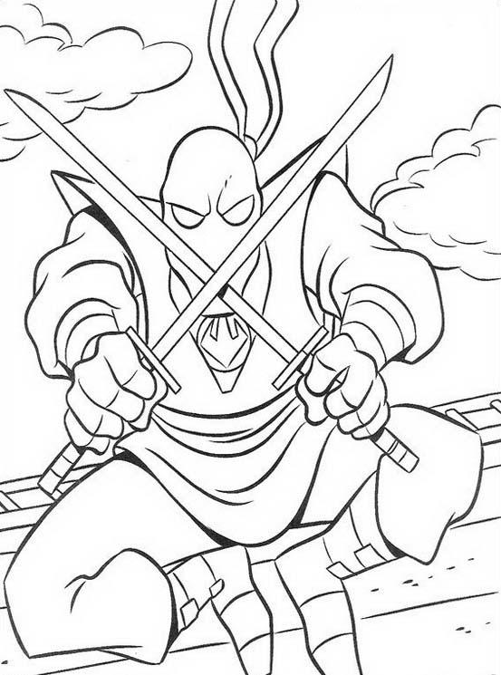 Tartarughe ninja da colorare 44