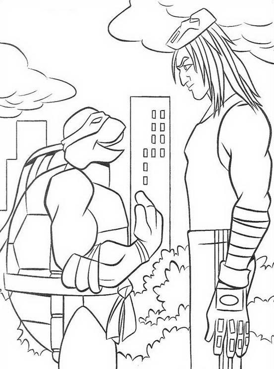 Tartarughe ninja da colorare 49