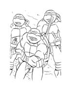 Tartarughe ninja da colorare 66