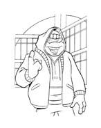 Tartarughe ninja da colorare 67