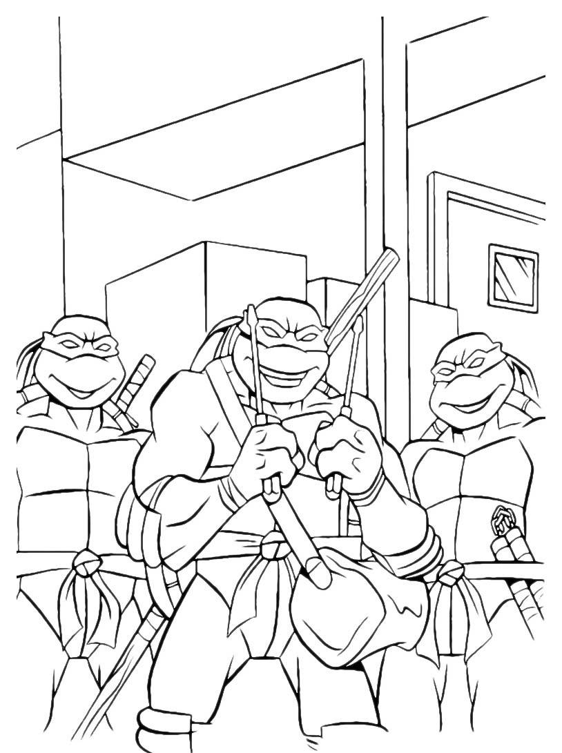 Tartarughe ninja da colorare 81