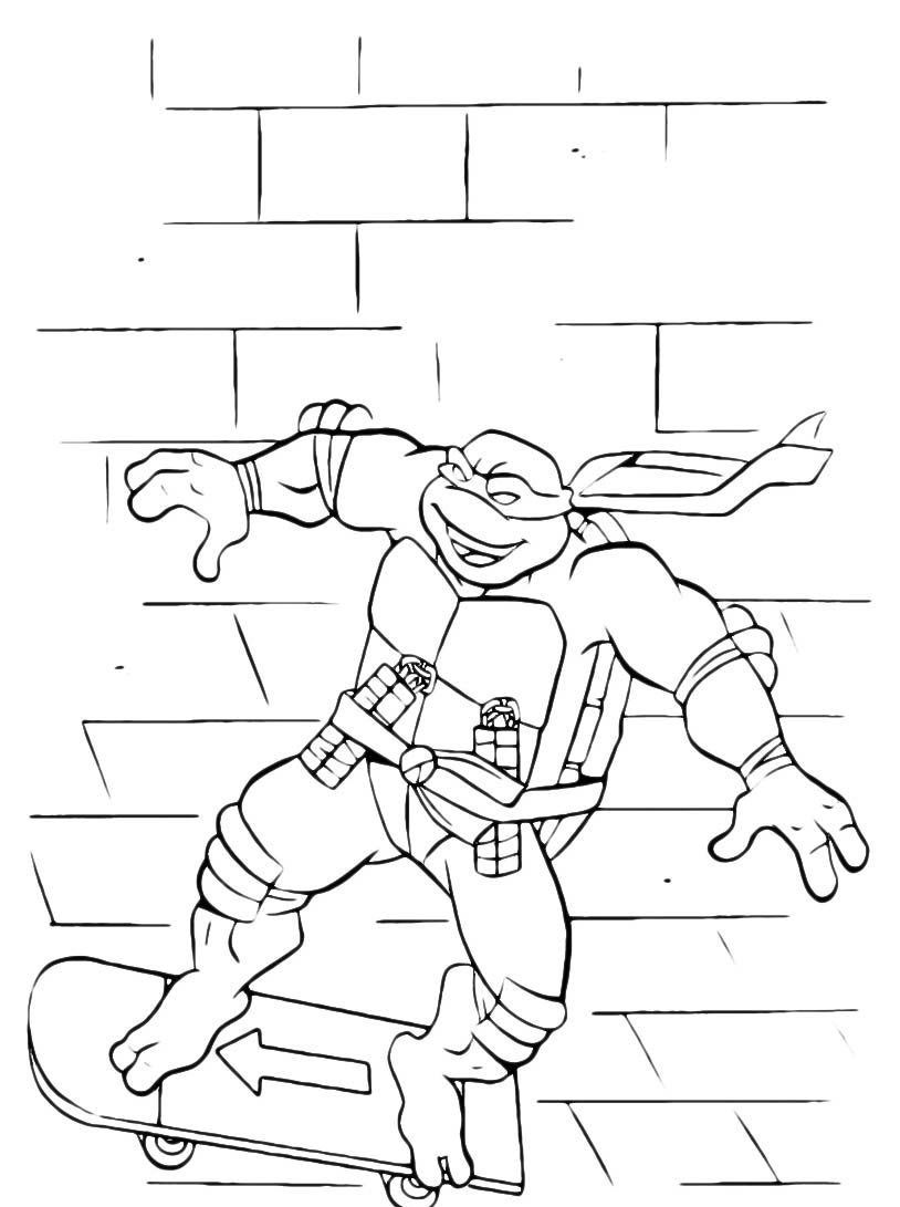 Tartarughe ninja da colorare 94