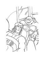 Tartarughe ninja da colorare 96