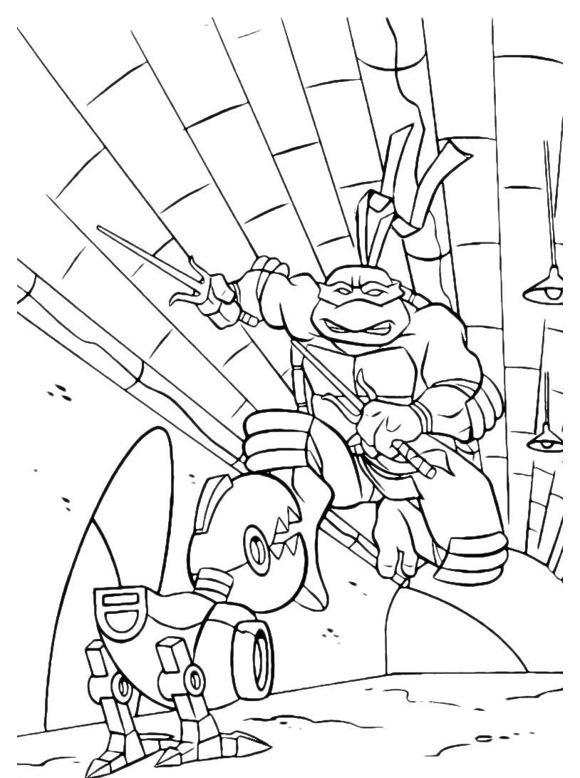 Tartarughe ninja da colorare 98